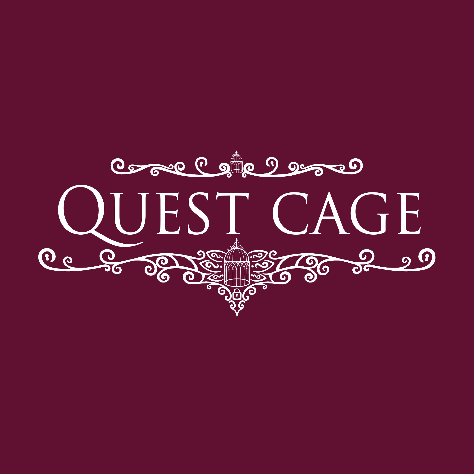 Quest Cage logo hollow